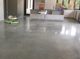 Concrete floor cleaning and polishing prestige floors for Cleaning stained concrete floors steam mop