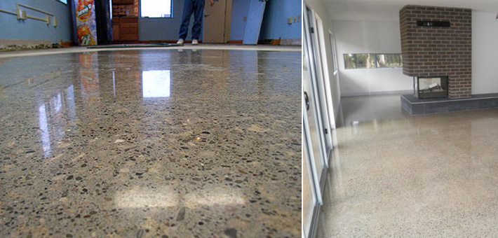 Concrete floor polishing grind seal prestige floors for Cost to level floor in house